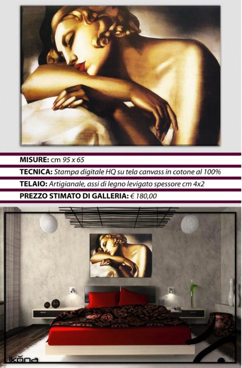 Quadro moderno arredo casa tamara de lempicka dormeuse dormiente quadro moderno arredo casa - Quadro per camera da letto ...